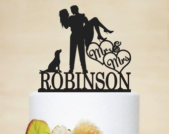 Wedding Cake Topper, Custom Cake Topper With Last Topper, Acrylic Decoration,Mr and Mrs cake topper-C048