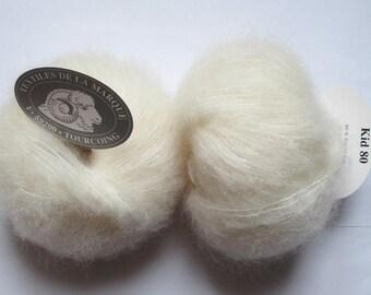 5 balls Kid 80 textile ecru brand 80 kid mohair