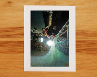 Matt Hensley Pool Skateboarding Photograph - Photo Print