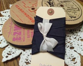 Vintage Midnight Blue Rayon Seam Binding