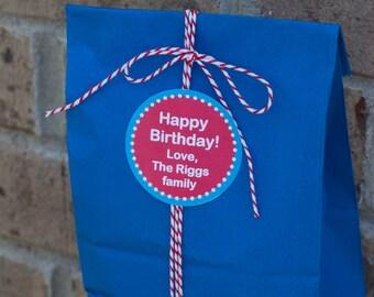 Personalized Birthday Stickers, Custom Gift Labels, Personalized Gift Stickers, Kids Birthday Stickers