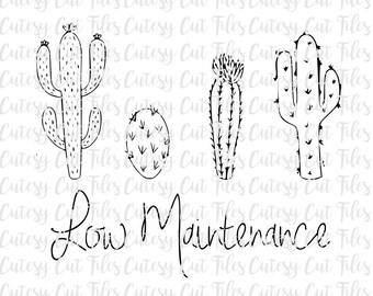 Low maintenance cactus svg - Cactus graphic tee - Low maintenance tshirt - Birthday gift - Cactus svg