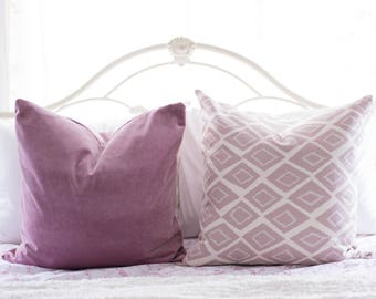 Mauve Pink Velvet Pillow Cover Shiny Throw Pillow Mauve Pink Decorative Pillow Covers Velvet Finish Cushion Home Decor 18x18 20x20