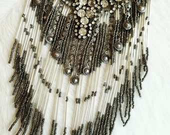 SOLD! Vintage Bohemian Layered Bib Necklace