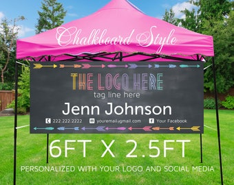 Pop-up Boutique Banner | Consultant Banner | Business Banner | Printable Banner Party Banner {6ft x 2.5ft} **DIGITAL FILE ONLY**