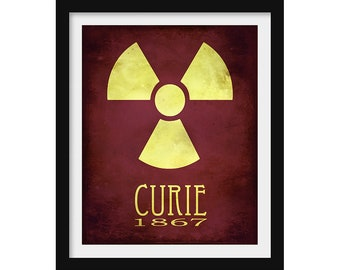 Marie Curie Art Print, Science Poster, Chemistry Gift, Physics Poster, Rock Star Scientist Decor, Women in Science Poster, Gift for Teacher