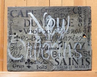 New Orleans Slate Sign