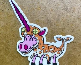 Unicorn Narwhal Cosplay Sticker