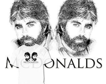 40% OFF SALE Michael McDonald T shirt Drawing
