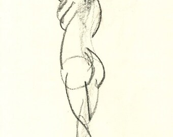 Gesture study 282 Original drawing  7.5 x 10.5 inches