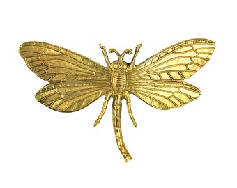 Dragonfly jewelry Dragonfly brooch vintage brass brooch Vintaj style brand