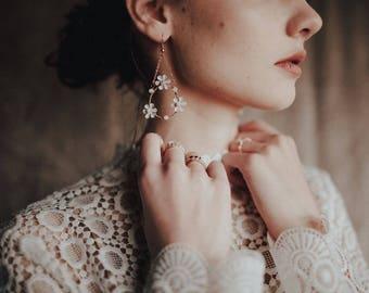 Boucles d'oreilles de couronne douce Marguerite, #1619