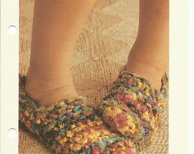 Rag slippers easy crochet pattern digital download