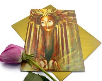 Compassion - Greeting Card, Sacred Feminine Art, Goddess Love, Altar of the Feminine, Goddess Art