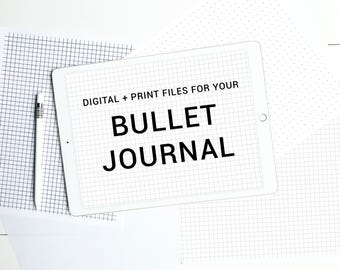 Bullet Journal Print and Digital iPad Pro Files