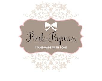 Premade Logo design- Pink Papers Logo Design