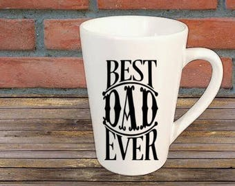 Best Dad Ever Mug Coffee Cup Gift Home Decor Kitchen Bar Gift for Her Him Any Color Personalized Custom Jenuine Crafts