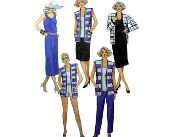 Jacket, Vest, Dress, Top, Skirt, Pants, Shorts, Women's Separates Sewing Pattern Misses' Size 12 Bust 34 Waist 26 1/2 Uncut McCall's 9580