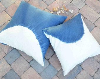 Indigo Tye Dye Pillow 20x20