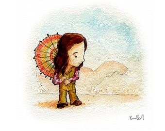 Kaylee Firefly Inspired Watercolor Print
