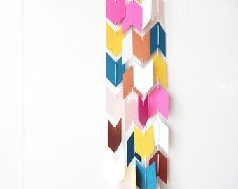Arrow Garland - Teal Peach Yellow Pink Copper White - Wedding decor - Bridal Shower - Nursery