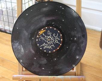 "Cat Stevens ""Wild World"" Lyric Record Painting"