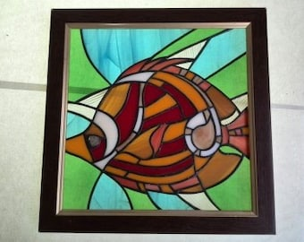 Fish, Stained glass Fish