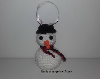 Christmas ornament - snowman to hang your Christmas tree snow