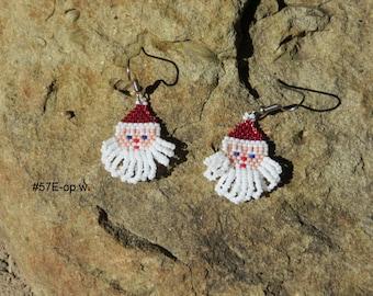 Christmas Holiday Beaded Santa Earrings by Kilikina
