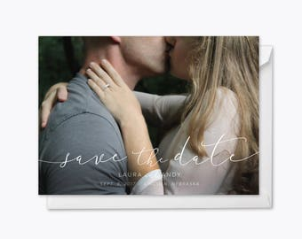 Sophisticated Love Photo Save the Date printable