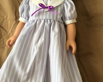 Lavender striped sailor dress