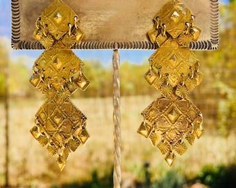 EmorySilverStudio *Gold Cleopatra Earrings*
