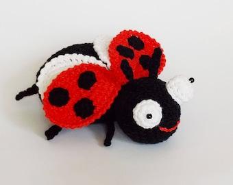 Amigurumi crochet pattern ladybug