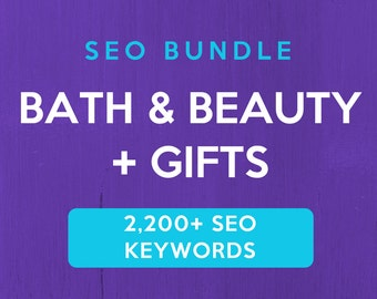 2,200+ SEO Keywords for Bath, Beauty & Gifts: Etsy SEO Keywords. SEO help for Etsy sellers, Etsy tag and title help. Be a Etsy best seller.