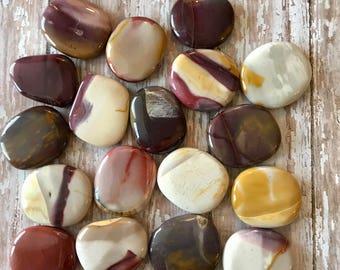 "Mookaite Jasper Small Palm Stone, 1.5"", Worry Stone, Pocket Stone, Meditation, Healing Crystal, Reiki, Healing Stone, Anti-aging"