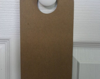 "2 Chipboard doorknob hanger for door knob 4"" x 10 1/4"""