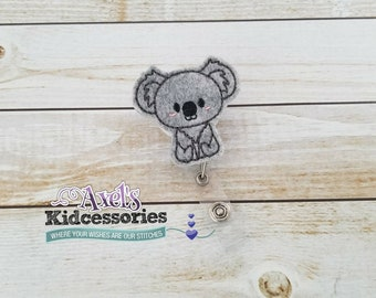 Koala ID Badge - Medical Badge Reel Badge - Koala Retractable ID Badge Holder - Teacher Badge Reel Clip