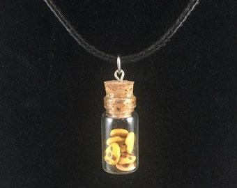 Cookie Jar Bottle Charm Necklace