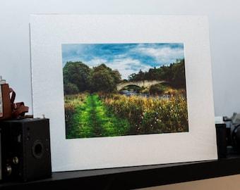 Summer Bridge  -Mounted Landscape Photograph
