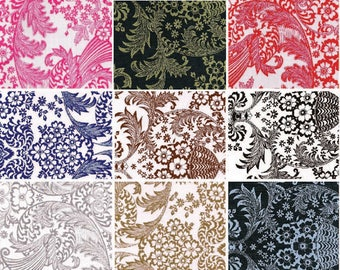 Oilcloth By The Yard Toile Your Choice of Color by the Yard