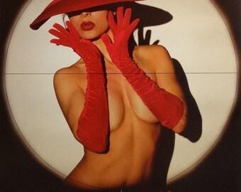 Exposed 22x28 80's Pin Up Girl Poster 1987 Bikini Model