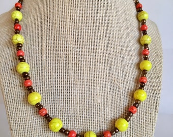 Beaded Necklace / Colorful /Bold beaded necklace