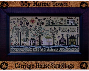 Carriage House Samplings: My Home Town - Cross Stitch Pattern
