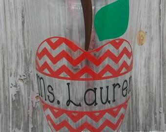 Teachers appreciation gift, teachers cup, teacher gift, monogrammed cup, tumbler, teacher tumbler