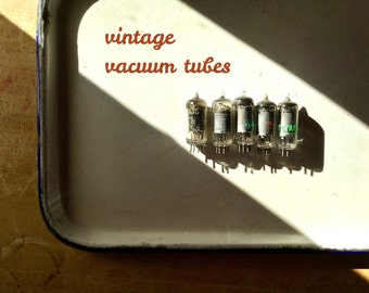 Small Vintage Vacuum Tubes, Steampunk Altered Art Mixed Media, Television Radio Tubes, Electron Tubes, Glass Tubes, Vintage Industrial