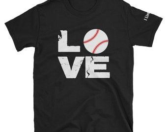 Love Baseball Shirt Distressed Baseball T Shirt Vintage Clothing Mens Shirts  Mens Gift Baseball Mom Shirts Baseball Dad Unisex T-Shirt