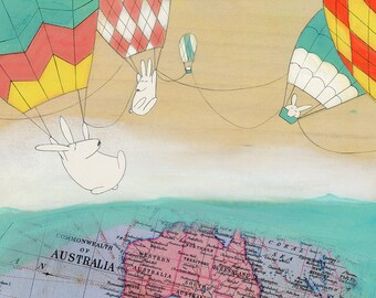 Signed(large) Art Print - Hello Australia!