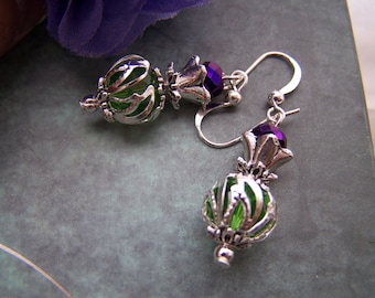 Thistle Earrings Scottish Scotland