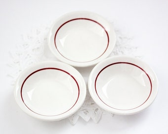 Wallace China Berry Bowls, Vintage Restaurant Ware Ice Cream Bowls