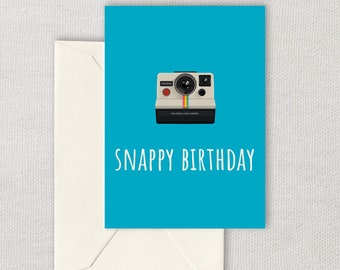 Printable Photographer Birthday Card - Photography Birthday Card - Snappy Birthday - Camera Birthday Card - Instant Download